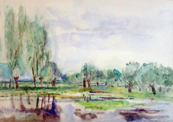 Afbeelding van het kunstwerk 'bij de oude Rijn' van Rinny Reulink