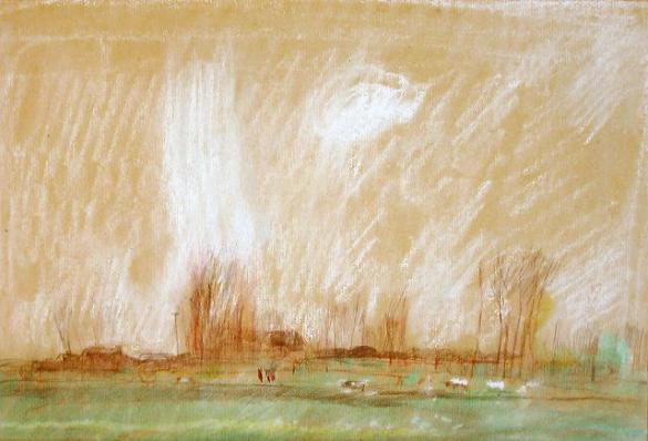 Afbeelding van het kunstwerk 'voorjaarsmorgen Wilp' van Rinny Reulink