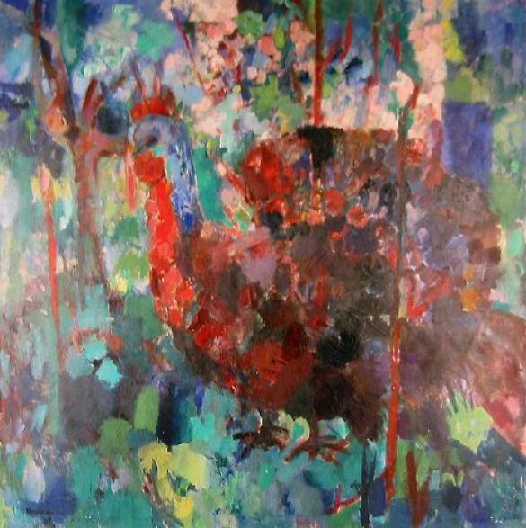 Afbeelding van het kunstwerk 'grote kalkoen' van Rinny Reulink