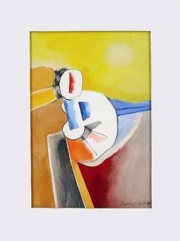 Afbeelding van het kunstwerk 'verlegen meisje' van DirkJan Ribbeling
