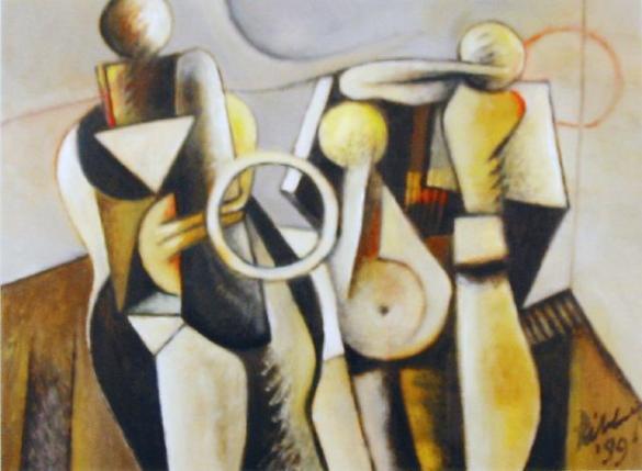Afbeelding van het kunstwerk 'emigranten' van DirkJan Ribbeling