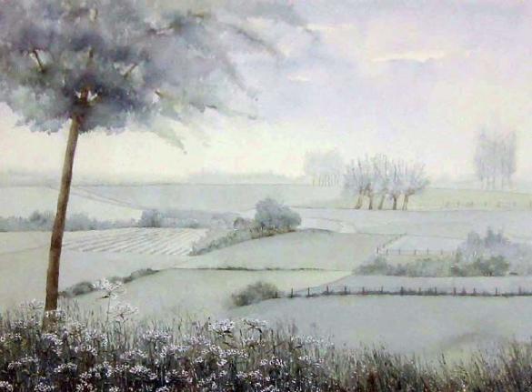 Afbeelding van het kunstwerk 'limburgs landschap' van Jenny Homan