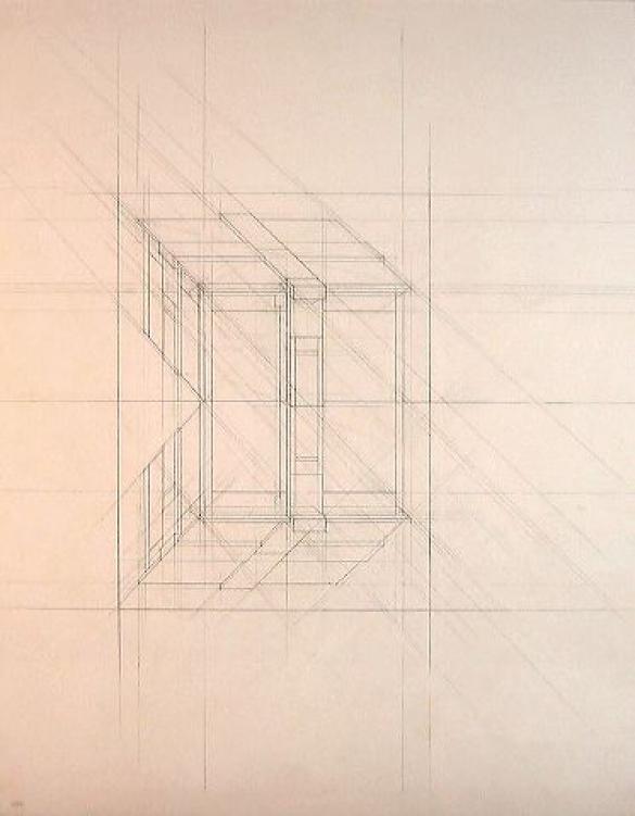 Afbeelding van het kunstwerk 'constructietekening bij schilderij' van Jaap Wieseman