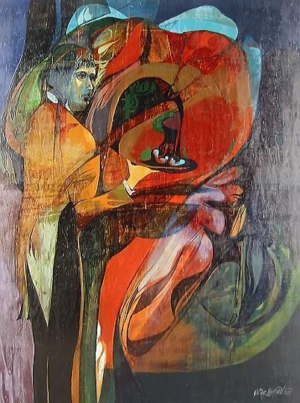Afbeelding van het kunstwerk 'de ober' van Victor Linford