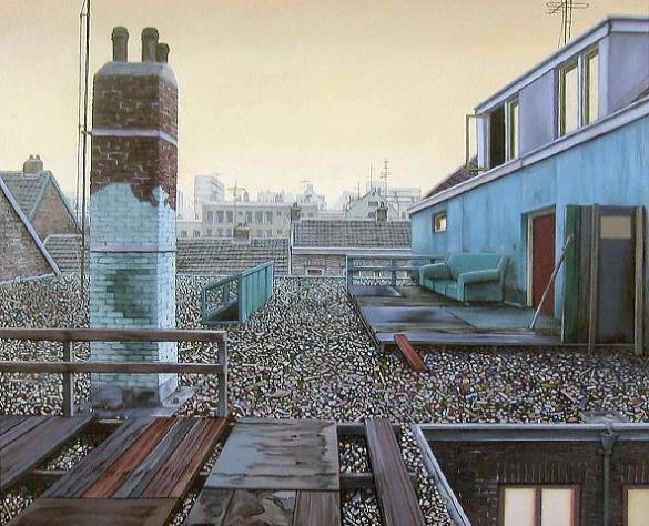 Afbeelding van het kunstwerk 'dak nr.1' van Henk Suichies