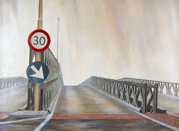 Afbeelding van het kunstwerk 'kanaalbrug' van Enno Brokke