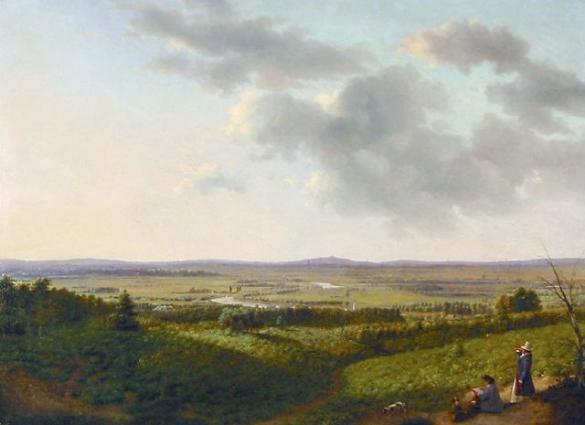 Afbeelding van het kunstwerk 'uitzicht over de Ijssel' van Onbekend