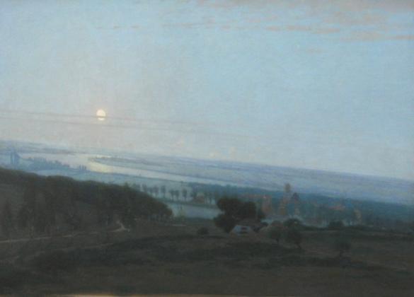 Afbeelding van het kunstwerk 'vergezicht van Posbank' van Wiggers