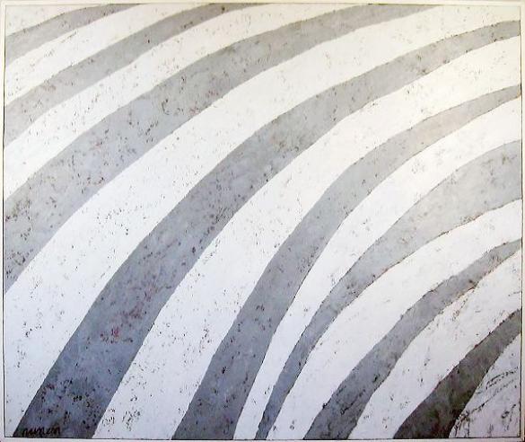 Afbeelding van het kunstwerk 'beweging in grijs en wit' van Frans van Nunen