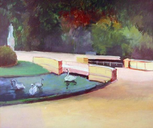 Afbeelding van het kunstwerk 'park' van Elli Hendriks-Slegten