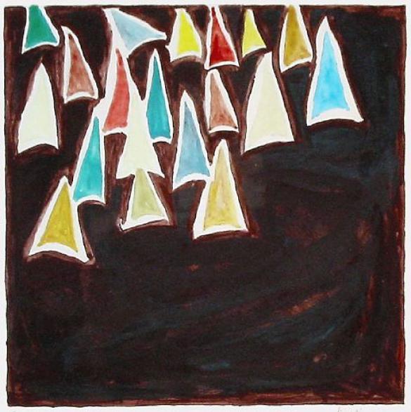 Afbeelding van het kunstwerk 'variaties op een tak / doornen' van Riet Lieferink