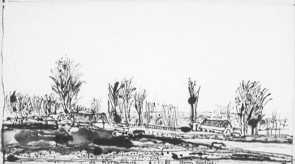 Afbeelding van het kunstwerk 'landschap de Karrekuule' van Rinny Reulink