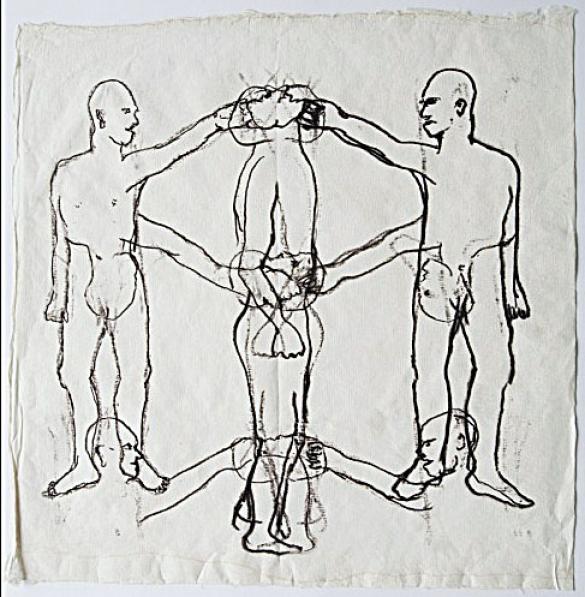 Afbeelding van het kunstwerk 'zonder titel' van Margret Goossen