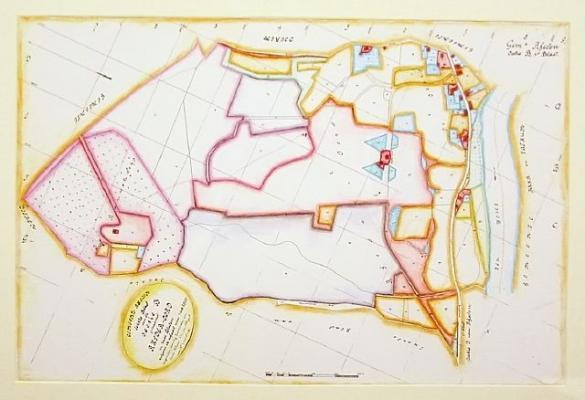 Afbeelding van het kunstwerk 'Historische kaart Rheden' van Jeanet Hoek
