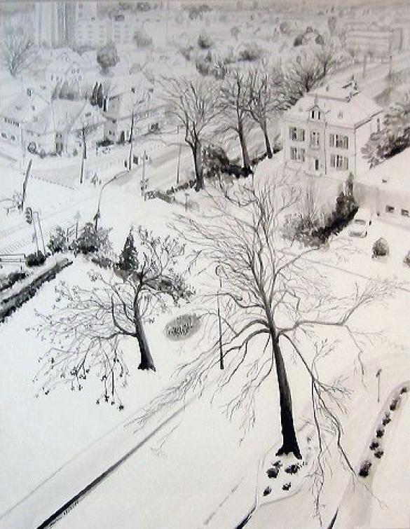 Afbeelding van het kunstwerk 'Gezicht vanaf Atlantaflat Velpp' van Anton Homan