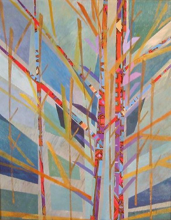 Afbeelding van het kunstwerk 'variaties op een tak' van Rudy Boeke-van der Heijden