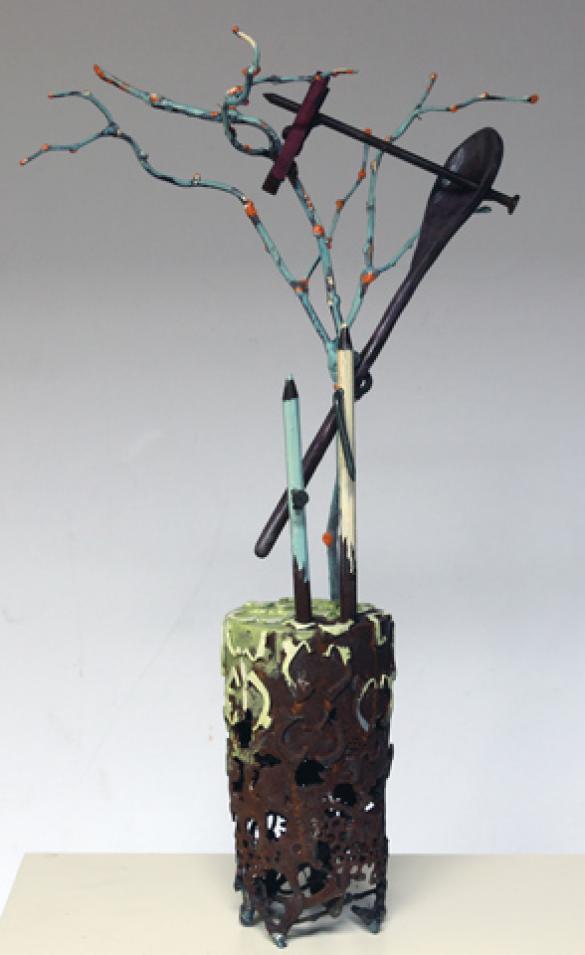 Afbeelding van het kunstwerk 'variaties op een tak' van Ralph Lambertz