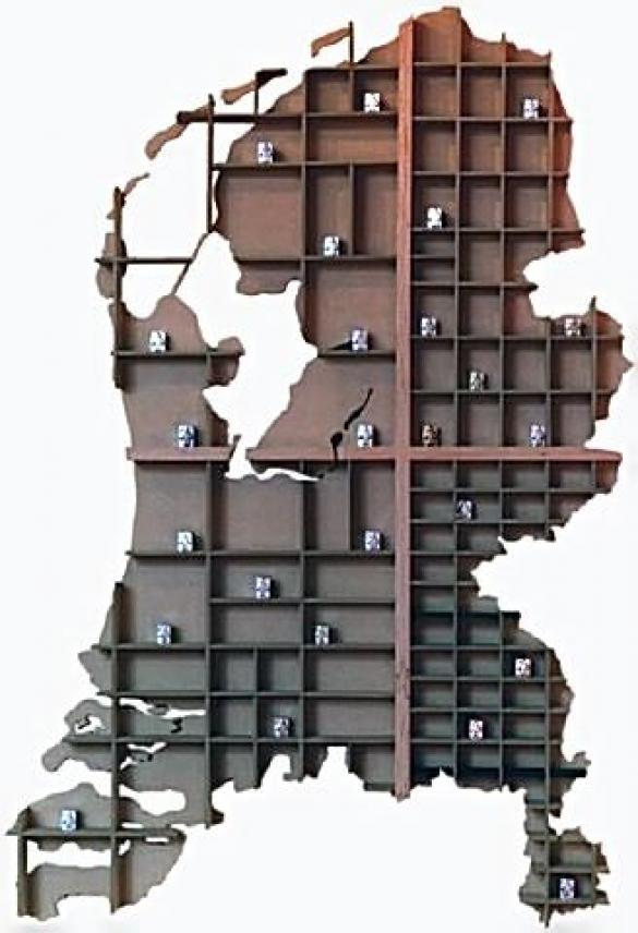 Afbeelding van het kunstwerk 'letterbak NL' van Erwin Kulsdom