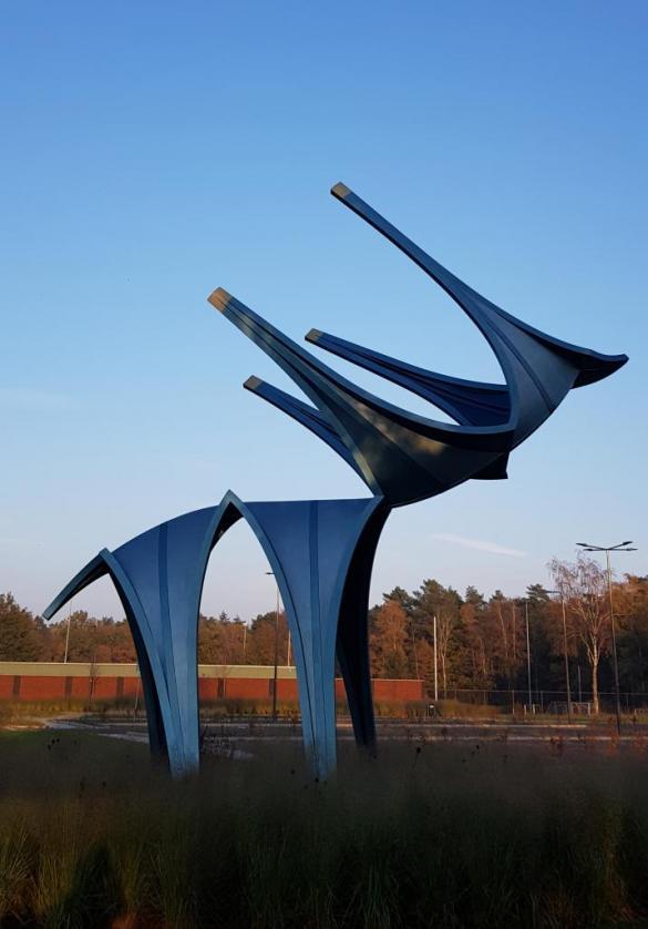 Afbeelding van het kunstwerk 'Gotisch Hert' van Caroline Kortenhorst
