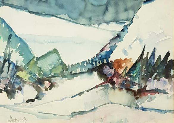 Afbeelding van het kunstwerk 'landschap' van Jan Homan