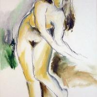 Afbeelding van het kunstwerk 'vrouwelijk naakt' van Karlijne Pietersma