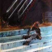 Afbeelding van het kunstwerk 'Versteend oponthoud 2' van Annelies van de Akker