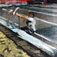 Afbeelding van het kunstwerk 'Versteend oponthoud 3' van Annelies van de Akker