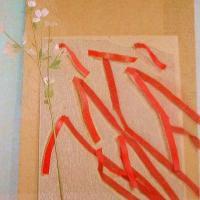 Afbeelding van het kunstwerk 'bloesem,linten' van Leon Tebbe