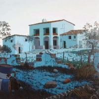 Afbeelding van het kunstwerk 'Mediterraan landschap' van Henk Suichies