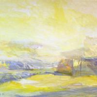 Afbeelding van het kunstwerk 'gele vallei' van Adriaan van Esveld
