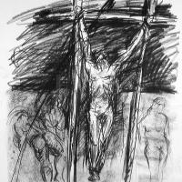 Afbeelding van het kunstwerk 'dubbel kruis' van Jan Vos