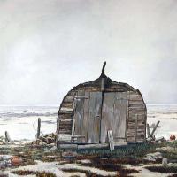 Afbeelding van het kunstwerk 'langs het Varangerfjord' van Enno Brokke