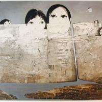 Afbeelding van het kunstwerk 'beeld van mens' van Ans Wortel