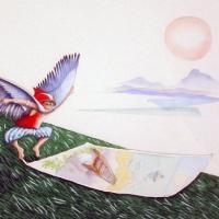 Afbeelding van het kunstwerk 'De tweede poging van Icarus' van Jan Braamhorst