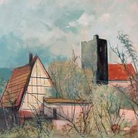 Afbeelding van het kunstwerk 'gezicht op Cheb' van V.Kadlec