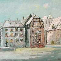 Afbeelding van het kunstwerk 'plein in Cheb' van V.Kadlec