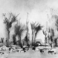 Afbeelding van het kunstwerk 'landschap Vierakker' van Rinny Reulink