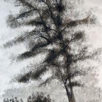 Afbeelding van het kunstwerk 'In de tuin bij de Valkenberg' van Anton Homan