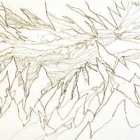 Afbeelding van het kunstwerk 'binnenstroom lineair 2' van Lilly Dresden