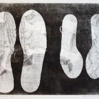 Afbeelding van het kunstwerk 'sokken en schoenen' van Elsbeth Zimmerman