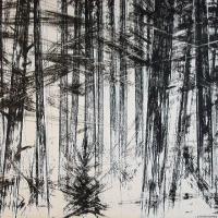Afbeelding van het kunstwerk 'dennenbos' van Enno Brokke