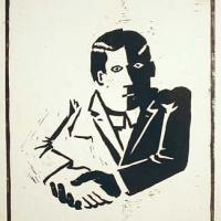 Afbeelding van het kunstwerk 'de ontmoeting' van Gerrit van Middelkoop