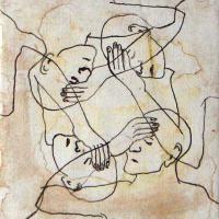 Afbeelding van het kunstwerk 'Ik hou mijn hersens vast' van Margret Goossen