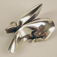 Afbeelding van het kunstwerk 'zilveren broche' van G. Zielstra