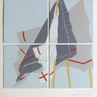 Afbeelding van het kunstwerk 'Wapperende zakdoeken 2' van Cor Stoel
