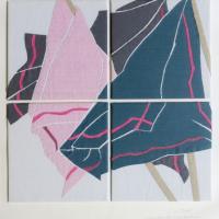 Afbeelding van het kunstwerk 'Wapperende zakdoeken 3' van Cor Stoel