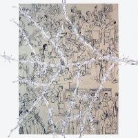 Afbeelding van het kunstwerk 'variaties op een tak' van Jean Pécasse