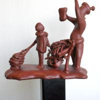 Afbeelding van het kunstwerk 'object ijzer op paal' van Ralph Lambertz