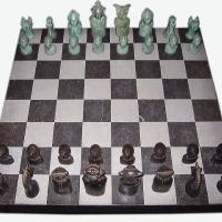 Afbeelding van het kunstwerk 'schaakspel' van Henk Göbel