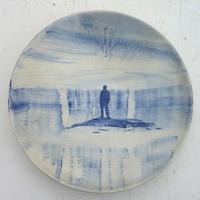 Afbeelding van het kunstwerk 'The Blues - man alleen' van Roland Sips